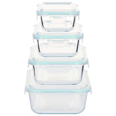 vidaXL Recipiente de depozitare din sticlă pentru alimente, 8 piese[4/9]