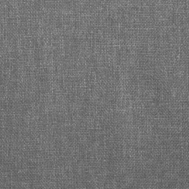 vidaXL Matstolar 4 st snurrbara ljusgrå tyg[6/8]