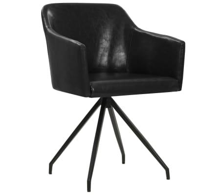 vidaXL salle à manger Noir de pcs Chaises pivotantes 4 Similicuir bf7gyYv6Im