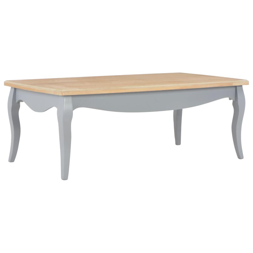 vidaXL Table basse Gris et marron 110 x 60 x 40 cm Bois de pin massif