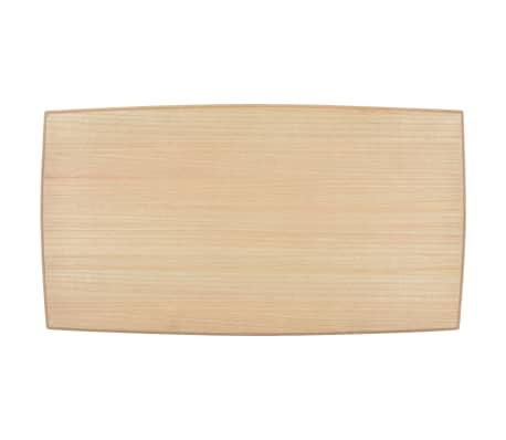 vidaXL Kavos staliukas, juod. ir rud. sp., 110x60x40cm, puš. med. mas.[4/7]