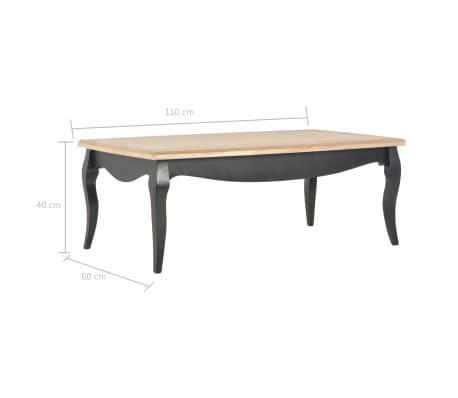 vidaXL Kavos staliukas, juod. ir rud. sp., 110x60x40cm, puš. med. mas.[7/7]