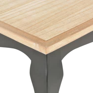 vidaXL Kavos staliukas, juod. ir rud. sp., 110x60x40cm, puš. med. mas.[6/7]