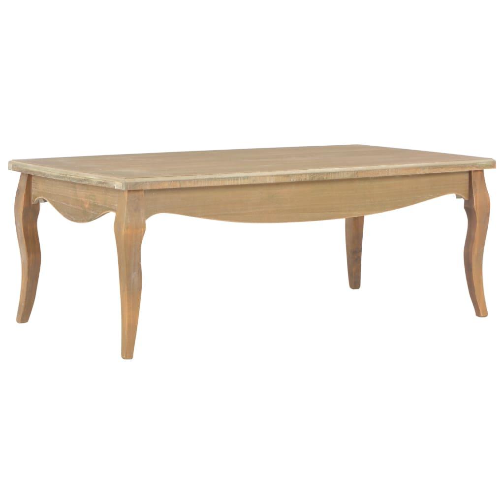 vidaXL Stolik kawowy, 110 x 60 x 40 cm, lite drewno sosnowe