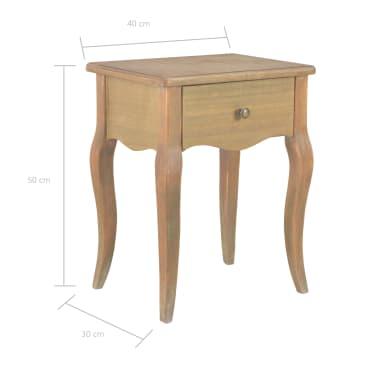 vidaXL Naktinis staliukas, 40x30x50cm, pušies medienos masyvas[9/9]