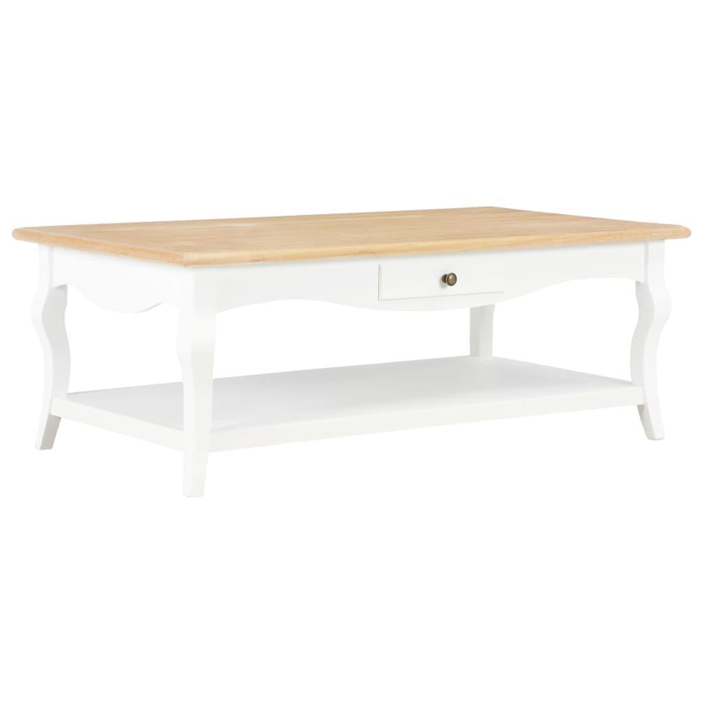 Voeg een vleugje elegantie toe met onze stijlvolle salontafel! Deze 2-laags salontafel met 2 lades heeft een lakafwerking in wit en biedt voldoende opbergruimte. Dankzij het fijne vakmanschap tilt hij het interieur van je woonkamer direct naar een hoger niveau.