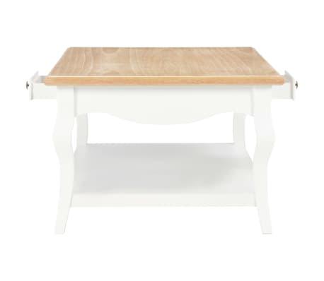 vidaXL Kavos staliukas, baltas, 110x60x40cm, MDF[5/9]