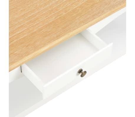 vidaXL Kavos staliukas, baltas, 110x60x40cm, MDF[6/9]
