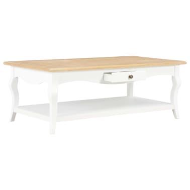 vidaXL Kavos staliukas, baltas, 110x60x40cm, MDF[2/9]