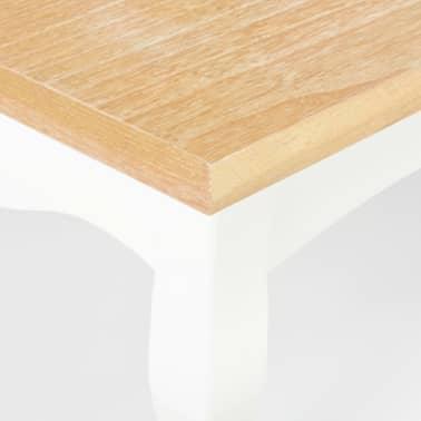 vidaXL Kavos staliukas, baltas, 110x60x40cm, MDF[7/9]