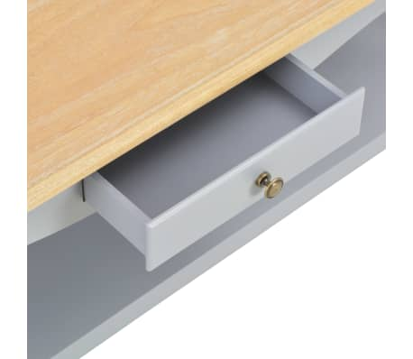 vidaXL Kavos staliukas, pilkas, 110x60x40cm, MDF[6/9]