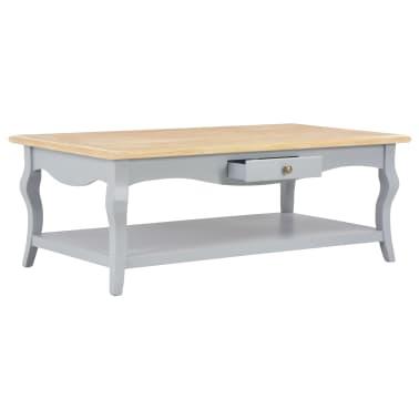 vidaXL Kavos staliukas, pilkas, 110x60x40cm, MDF[2/9]
