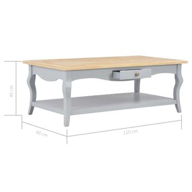 vidaXL Kavos staliukas, pilkas, 110x60x40cm, MDF[9/9]