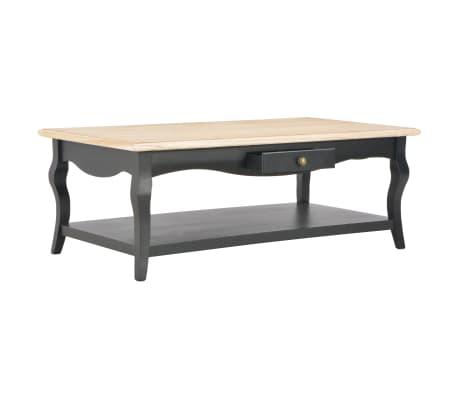vidaXL Kavos staliukas, juodas, 110x60x40cm, MDF[2/9]