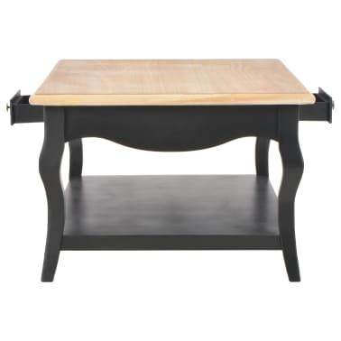 vidaXL Kavos staliukas, juodas, 110x60x40cm, MDF[5/9]