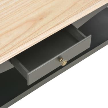 vidaXL Kavos staliukas, juodas, 110x60x40cm, MDF[6/9]