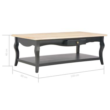 vidaXL Kavos staliukas, juodas, 110x60x40cm, MDF[9/9]