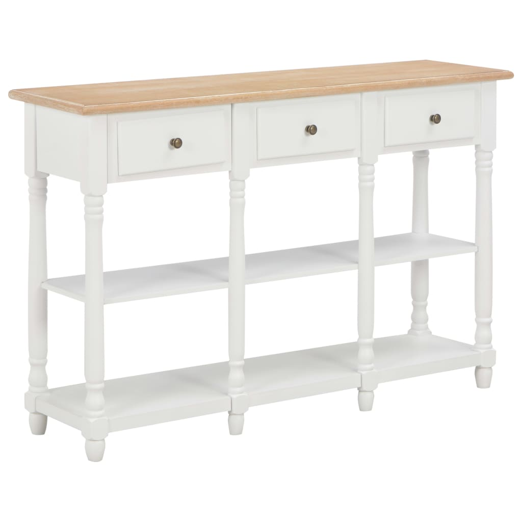 vidaXL Table console Blanc 120x30x76 cm MDF