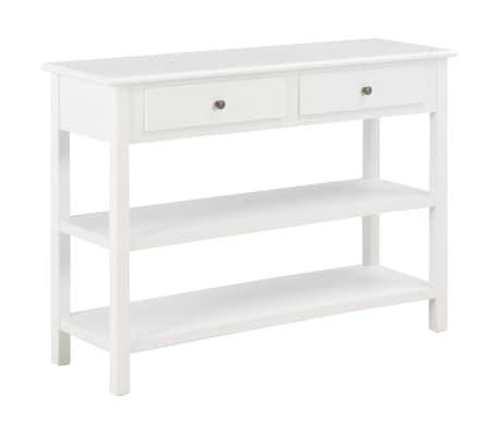vidaXL Sivupöytä 110x35x80 cm MDF valkoinen