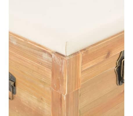 vidaXL Coffre de rangement avec coussin 80x40x40 cm MDF[9/11]