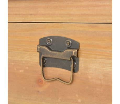 vidaXL Coffre de rangement avec coussin 80x40x40 cm MDF[10/11]