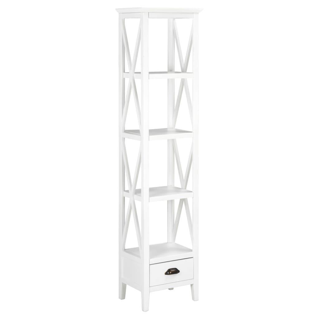 vidaXL Biblioteczka z 1 szufladą, biała, 40 x 30 x 170 cm, MDF