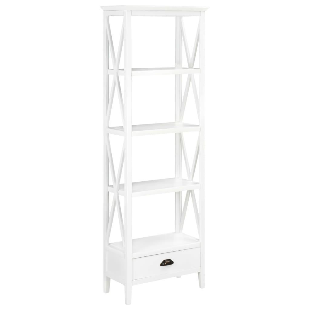 vidaXL Biblioteczka z 1 szufladą, biała, 60 x 30 x 170 cm, MDF