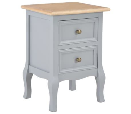 save off 3850c 8d961 Details about vidaXL Bedside Cabinets Grey MDF Telephone Stand Bedroom  Furniture Nightstand
