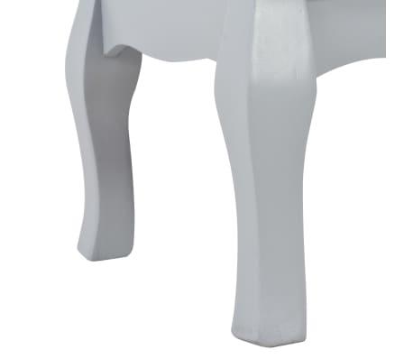 vidaXL Naktinės spintelės, pilkos spalvos, 35x30x49cm, MDF[7/9]