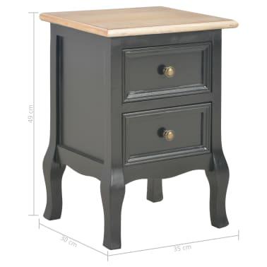 vidaXL Bedside Cabinets 2 pcs Black 35x30x49 cm MDF | vidaXL