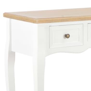 vidaXL Kosmetinis konsolinis staliukas su 3 stalčiais, baltas[6/7]