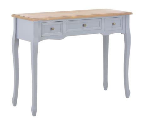 vidaXL Kosmetinis konsolinis staliukas su 3 stalčiais, pilkas[1/7]
