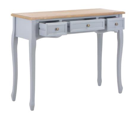 vidaXL Kosmetinis konsolinis staliukas su 3 stalčiais, pilkas[2/7]