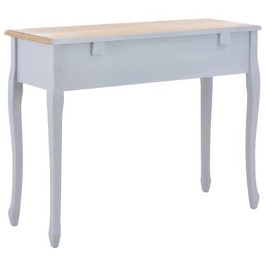 vidaXL Kosmetinis konsolinis staliukas su 3 stalčiais, pilkas[5/7]