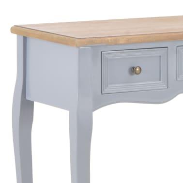 vidaXL Kosmetinis konsolinis staliukas su 3 stalčiais, pilkas[6/7]