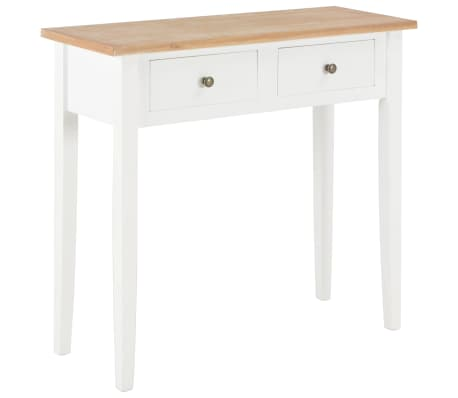 vidaXL Dressing Console Table White 79x30x74 cm Wood