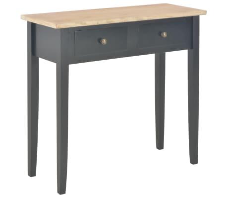 vidaXL Toaletný konzolový stolík, čierny 79x30x74 cm, drevo