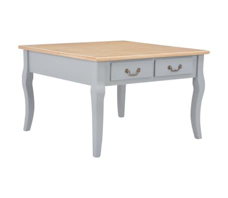 vidaXL kafijas galdiņš, 80x80x50 cm, pelēks, koks