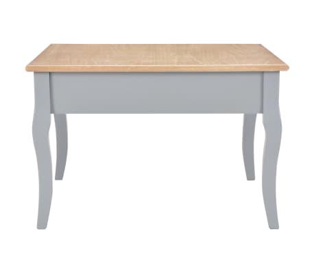vidaXL Kavos staliukas, pilkos spalvos, 80x80x50cm, mediena[4/8]