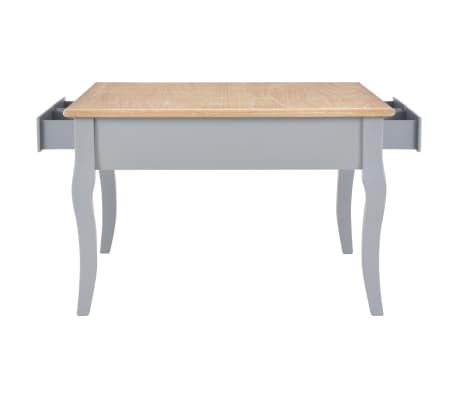 vidaXL Kavos staliukas, pilkos spalvos, 80x80x50cm, mediena[5/8]