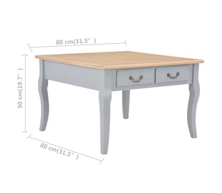 vidaXL Couchtisch Grau 80 x 80 x 50 cm Holz