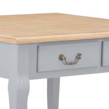 vidaXL Kavos staliukas, pilkos spalvos, 80x80x50cm, mediena[6/8]