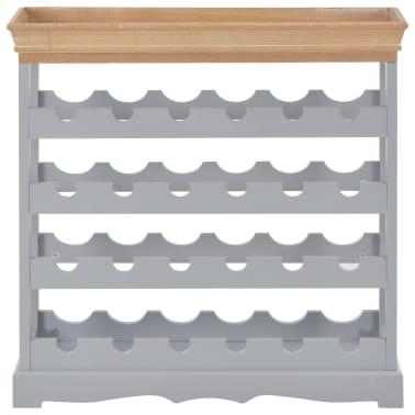 vidaXL Armoire à vin Gris 70 x 22,5 x 70,5 cm MDF[2/8]