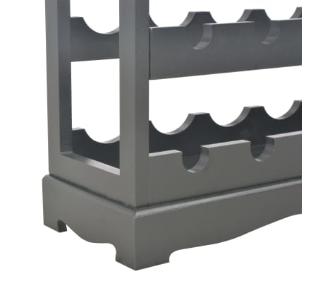 vidaXL Wijnkast 70x22,5x70,5 cm MDF zwart[7/8]