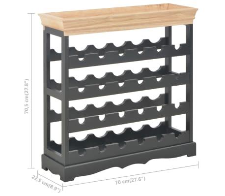 vidaXL Wijnkast 70x22,5x70,5 cm MDF zwart[8/8]