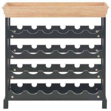 vidaXL Wijnkast 70x22,5x70,5 cm MDF zwart[3/8]