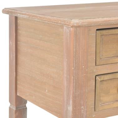 vidaXL Bureau Marron 109,5 x 45 x 77,5 cm Bois[6/8]