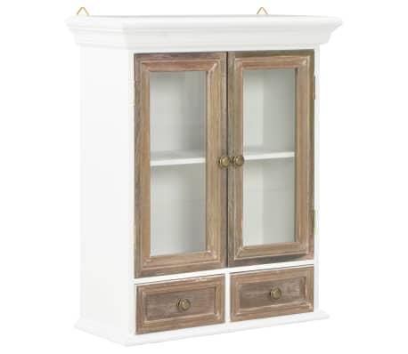 vidaXL Wandkast 49x22x59 cm massief hout wit