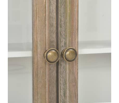 vidaXL Sieninė spintelė, baltos spalvos, 49x22x59cm, medienos masyvas[7/8]