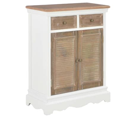vidaXL Příborník bílý 60 x 30 x 80 cm masivní dřevo